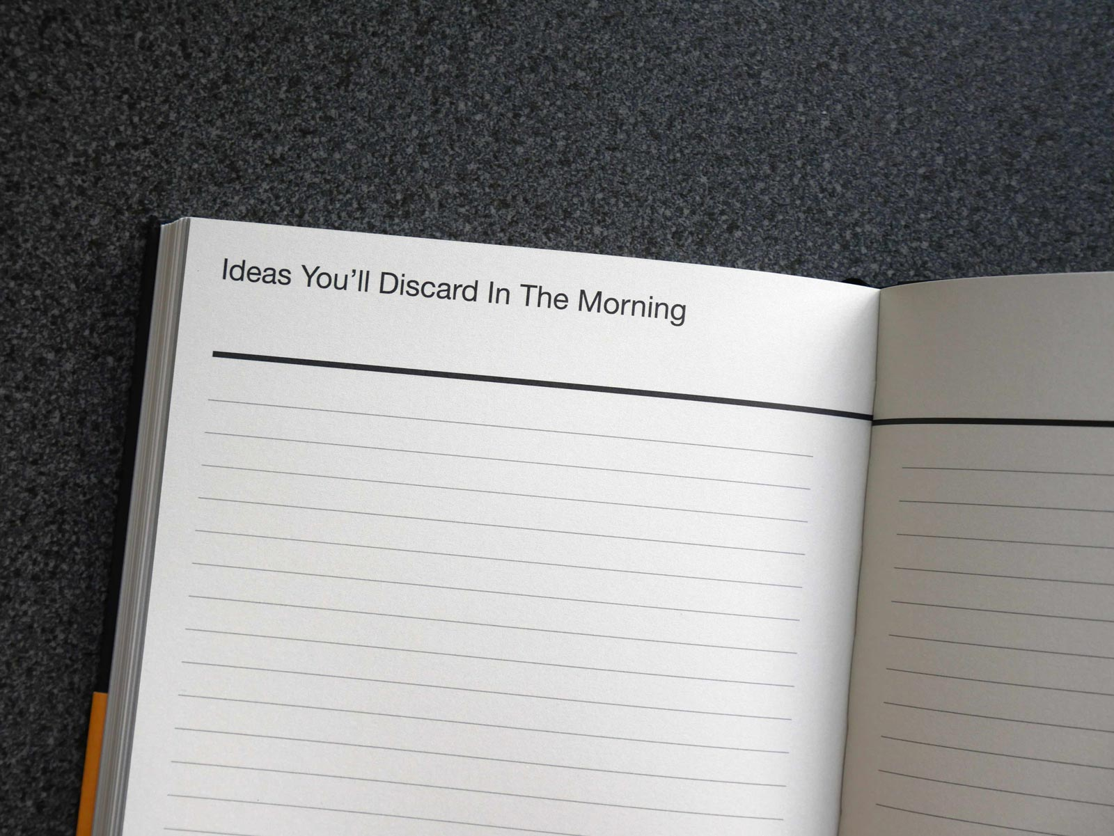 Perpetual disappointments diary by Nick Asbury for A Curate's Egg