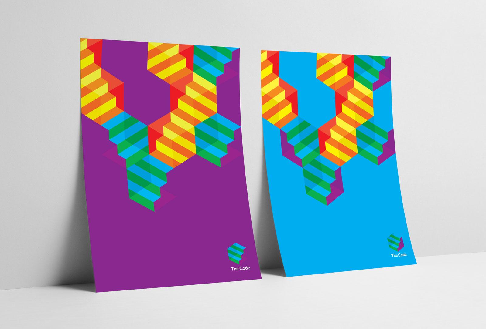 Recent identity design by Matt Comboy for 'The Code' for Dentsu Aegis